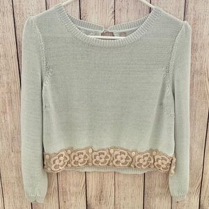 Knitted & knotted by Anthropologie cropped top. M